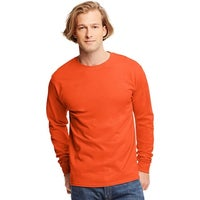 24bf9bb1 Shop Hanes TAGLESS® Long-Sleeve T-Shirt - Size - S - Color - Yellow ...