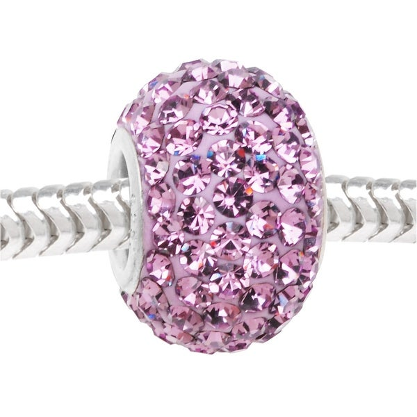 Sterling Silver Sparkle Bead June Birthstone Lt Alexandrite Crystal In Ferido European Style Large Hole 12mm