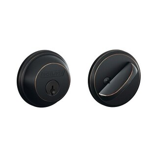 Schlage B60T Single Cylinder Grade 1 Deadbolt with Tapered Latch