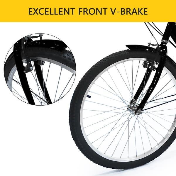 "24/""// 26/"" Adult 7-Speed Tricycle 3 Wheels Trike Bicycle W// Shopping Basket+Pump"