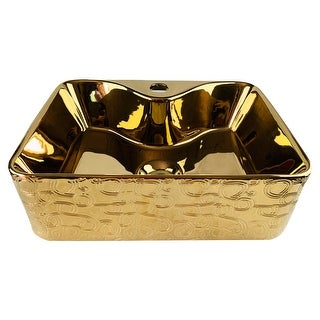 Link to Emperador Imperial Golden Rectangle Vessel Sink Similar Items in Sinks