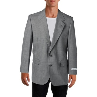 Bert Pulitzer Mens Mark Wrinkle Resistant Wool Blend Two-Button Blazer