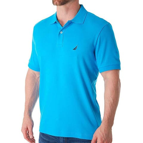 Nautica Mens Classic Fit Short Sleeve Solid Soft Cotton Polo, Adult