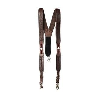 Nocona Mens Galluse Suspenders Embossed Texas Star XXL Sorrel