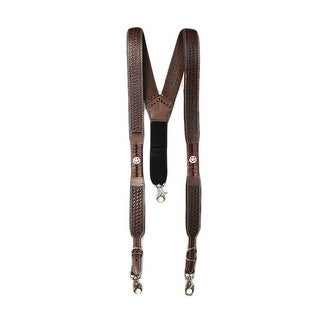 Nocona Suspenders Mens Galluse Embossed Star Sorrel