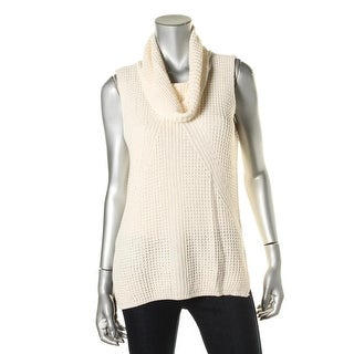 Two by Vince Camuto Womens Sleeveless Turtleneck Pullover Sweater