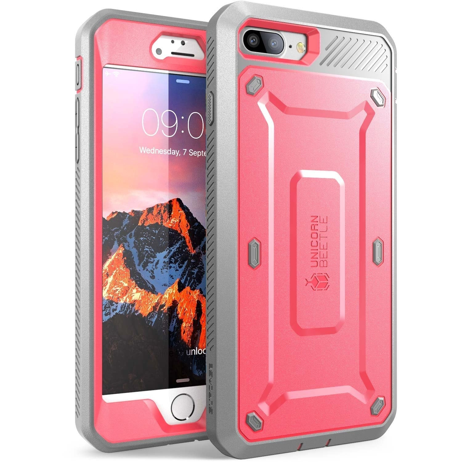e73dea2e1df SUPCASE Apple iPhone 7 Plus Unicorn Beetle PRO Case Pink Gray Cover ...