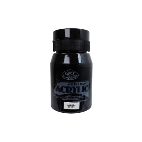 Raa-5120 royal paint artist acrylic 16 9oz mars black