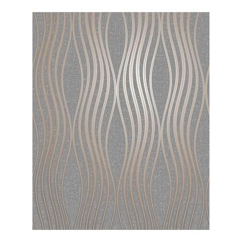 Valor Copper Wave Wallpaper - 20.5 x 396 x 0.025