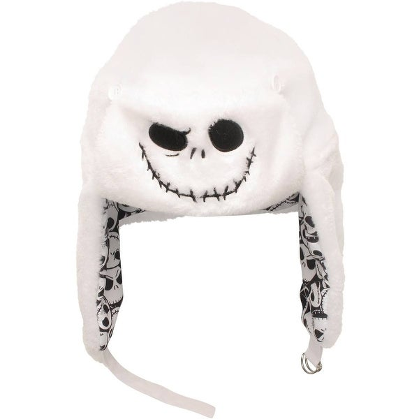 8368ec03524 Disney  x27 s Nightmare Before Christmas Jack Skellington Reversible Flip  Trapper Aviator Hat Beanie