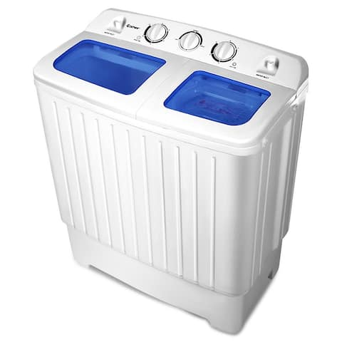 Costway 17.6lb Portable Mini Compact Twin Tub Washing Machine Washer