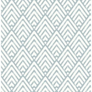 Brewster 2625-21826 Vertex Blue Diamond Geometric Wallpaper