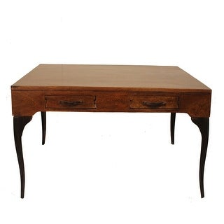 Accent Coffee Table with Drawers Wood Metal  For Living Room