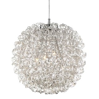 """Platinum PCPG2816 Pageant 4 Light 16"""" Wide Pendant with Metal Shade