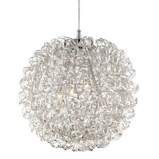 """Platinum PCPG2816 Pageant 4 Light 16"""" Wide Pendant with Metal Shade"""
