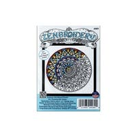 Design Works Zenbroidery Fabric 5x5 Mandala