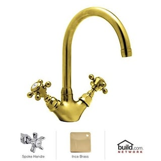 Rohl A1466X-2 Country Kitchen Series Kitchen Faucet with Five Spoke Handles