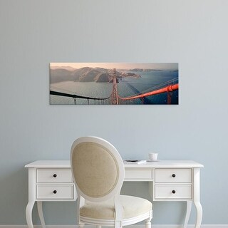 Easy Art Prints Panoramic Images's 'Golden Gate Bridge California USA' Premium Canvas Art