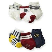 Carter's Baby Boys' Newborn 6 Pack Sport Computer Socks, Multi, 0-3 Months