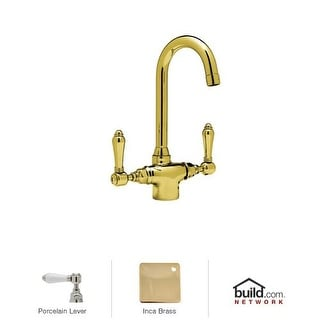 Rohl A1667LP-2 Country Kitchen Kitchen Faucet with Porcelain Lever Handles