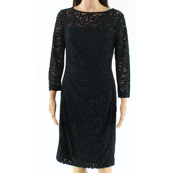 09ca453c Shop Lauren By Ralph Lauren Woodland Green Women's Size 8 Lace Dress ...