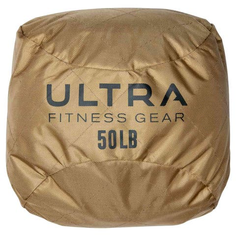 Ultra Fitness Gear Soft Atlas Stone Sandbag, Loadable Up to 50 LB, Includes Ultra Durable Soft Outer Shell and Filler Bag