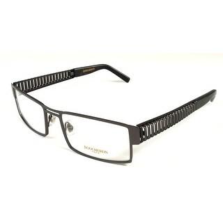 Boucheron Unisex Rectangular Eyeglasses Silver/Black - S