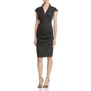 Nicole Miller Womens Cocktail Dress Ponte Ruched