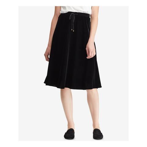 RALPH LAUREN Black Knee Length A-Line Skirt Size XXL