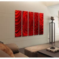 Statements2000 3D Metal Wall Art Abstract Modern Painting by Jon Allen - Red Hypnotic Sands Epic