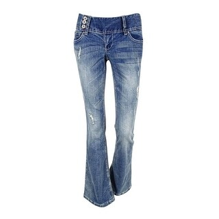 Ariya Juniors' Curvy Flare Leg Jeans (3/4, Cyprus) - cyprus