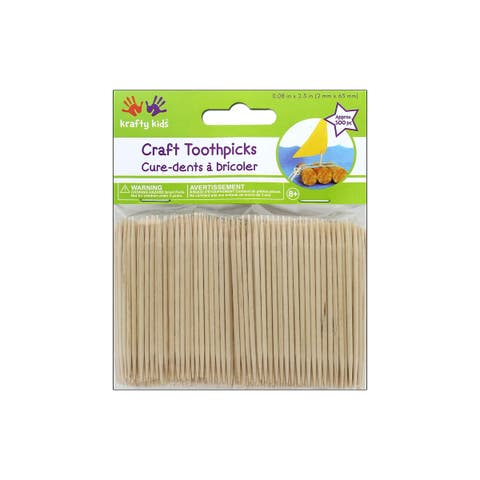 """Multicraft Craft Wood Toothpick 2.5"""" Natural 500pc"""
