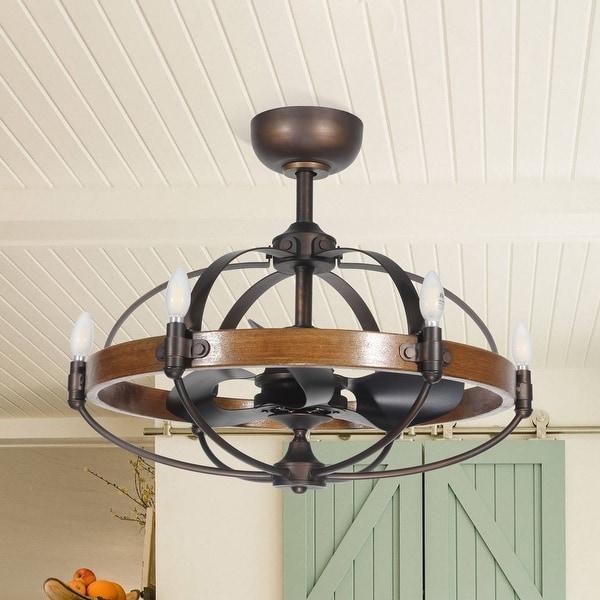 Shop 29 Inch Reversible 3 Blades 6 Speed Wood Ceiling Fan