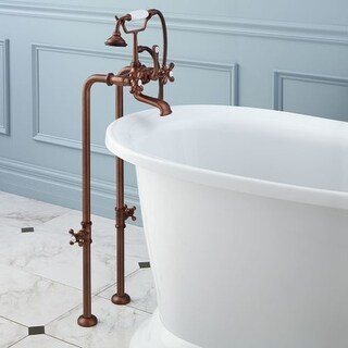 """Signature Hardware 904811-37 46"""" Floor Mounted Telephone Style Tub Filler with C"""