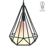 Industrial retro loft pendant,black ceiling pendant light,cage hanging lamp