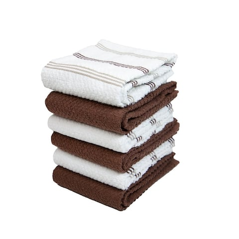 Sloppy Chef Kitchen Towels Stripes Pattern (6-Pack, 15 x 25 in.) - 15 x 25 in.