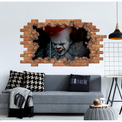 It Horrors Halloween Wall Decal Pennywise The Clown Vinyl Sticker Murals