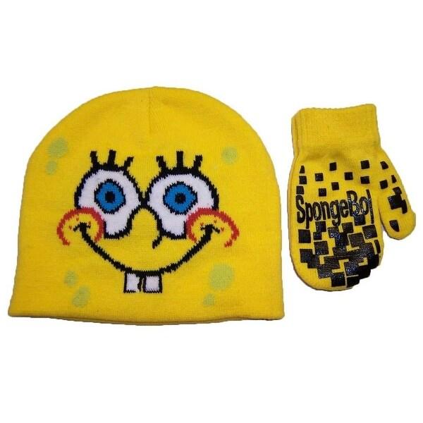 Nickelodeon Boys 2T-4T Months Spongebob Hat and Mitt Set