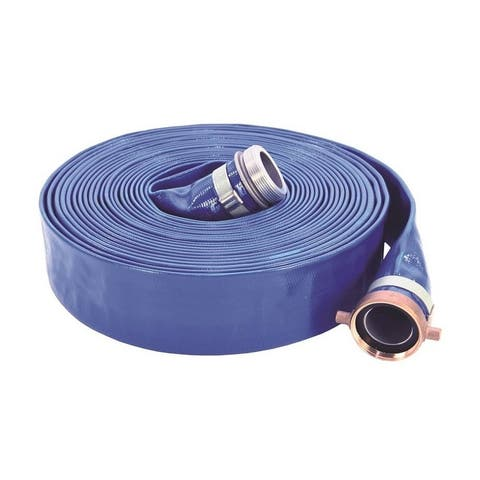 Abbott Rubber 1148-2000-50-CE Lay-Flat Discharge Hose Assembly, 50' L