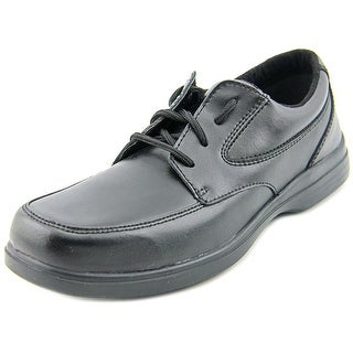 Hush Puppies Ty Youth W Round Toe Leather Black Oxford