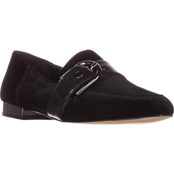 MICHAEL Michael Kors Cooper Slip-On Loafers, Black Valvet - 9.5 us / 40.5 eu