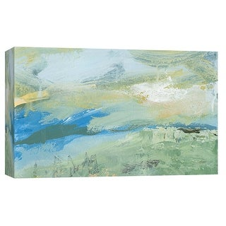 "PTM Images 9-101917  PTM Canvas Collection 8"" x 10"" - ""Landscape Study 14"" Giclee Abstract Art Print on Canvas"