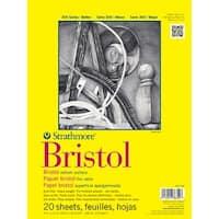 "20 Sheets - Strathmore Bristol Vellum Paper Pad 9""X12"""