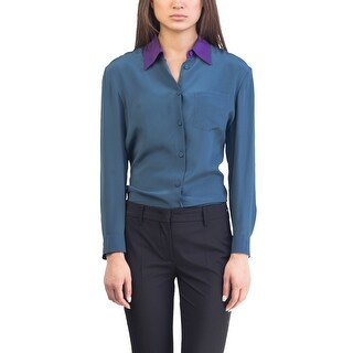 Prada Women's Silk Blouse Shirt Two Tone - 6