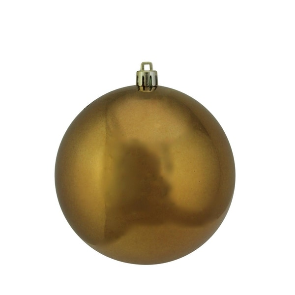 """Shiny Copper Brown UV Resistant Commercial Shatterproof Christmas Ball Ornament 4"""" (100mm)"""