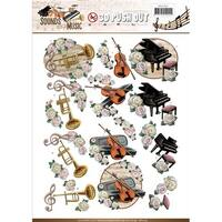 Classic - Find It Amy Design Sounds Of Music Punchout Sheet
