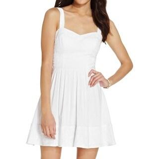 B. Darlin Womens Juniors Casual Dress Lace Trim Sleeveless - 9/10