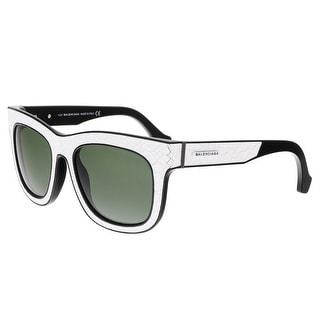 Balenciaga BA0009 23N Cracked White Square Sunglasses - cracked white - 53-19-140