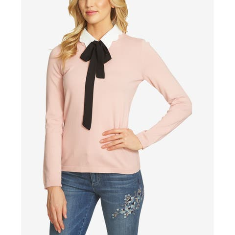 Vince Camuto Women's Small Bow-Tie Pullover Sweater