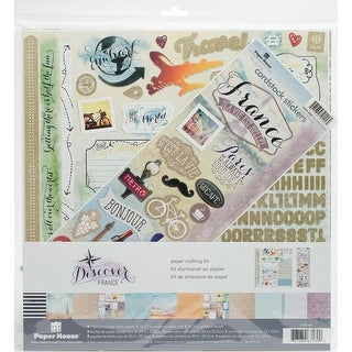 "Paper House Paper Crafting Kit 12""X12""-France"